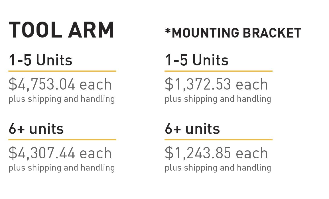 FORTIS Arm Costs   ROBRADY design