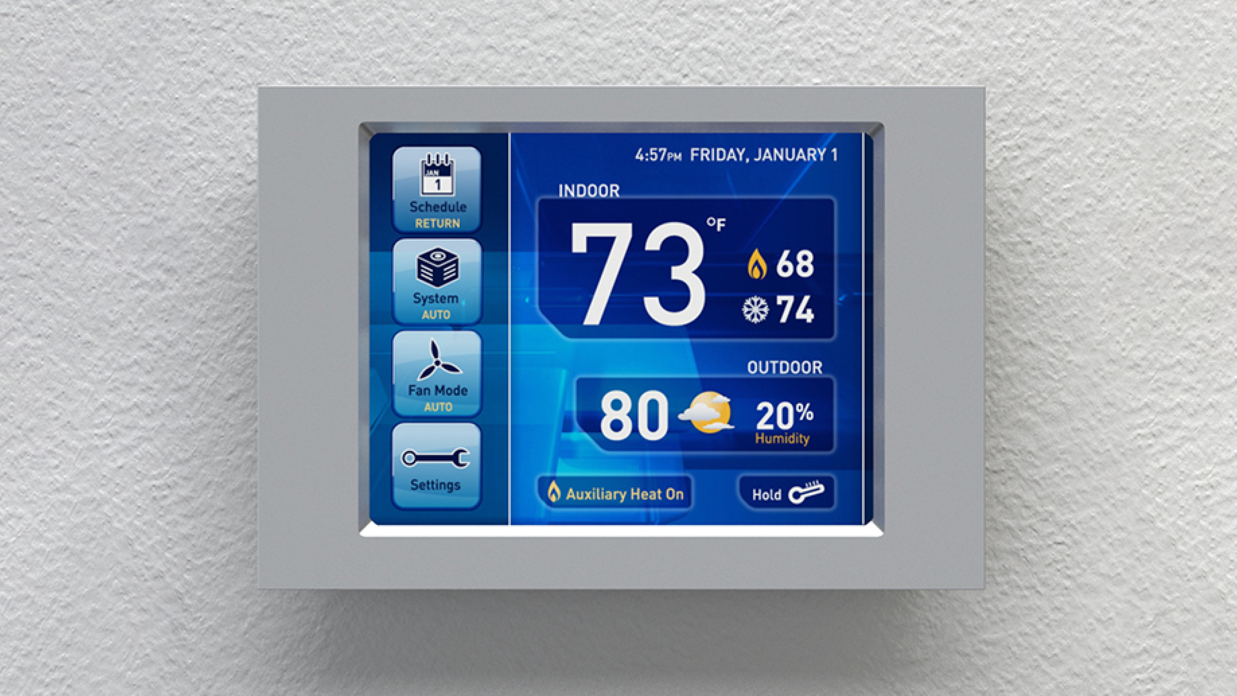 Parker Hannifin Touch Screen Thermostat Concept Screens | ROBRADY design
